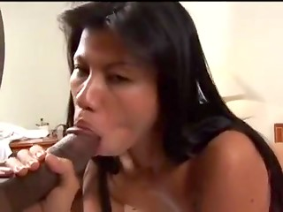Hot interracial sex of thai girl and ebony man