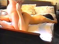 1996 amatööri nauha osoittaa, miten hyvin venäjän aviomies löi vaimonsa karvainen pillua makuuhuoneessa