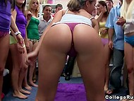 College sluts just love to dance at the parties and twerk their asses on the camera