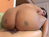 Hot cinnamon with big butt undresses for her partner and checks how he will react to cowgirl position 4