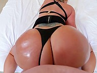 Point of view porn video where guy fucks pornstar Eva Notty and cums on huge buttocks 5