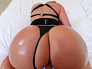 Point of view porn video where guy fucks pornstar Eva Notty and cums on huge buttocks 6