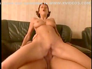 Butt fucked and facially cummed redhead gal