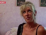 Smiling Mature French never misses a chance to hook up with a young hottie