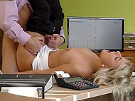 Charming Czech blonde lets man fuck her not because of sexual pleasure but for loan