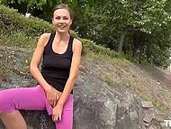 Cameragirl ayuda atractivo entrenador de fitness Tina Kay cumplir la fantasía en el rodaje de su coño a parpadear