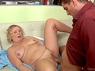 Technique that the mature lady uses to seduce husband's friend is primitive still it works