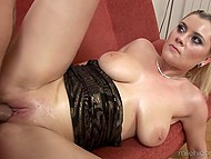 Stepson is such a handsome guy that stepmother with natural boobs allows him to bang bottom