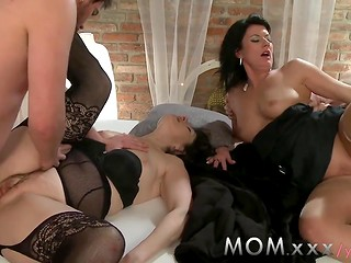 Sexy mature sluts enjoying group sex