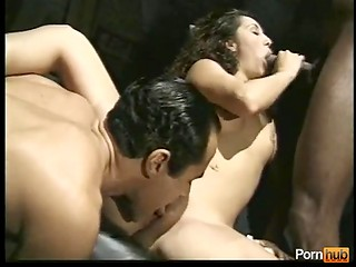 Brunette loves black dicks, white dicks she loves too