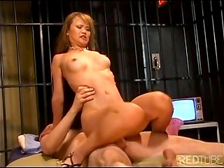 Asian whore getting boned in jail