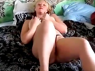 Danish blonde makes her husband dick explode