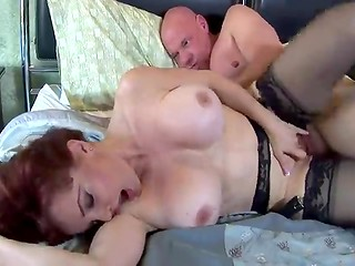 Sexy gorgeous madam in stockings gets shagged in missionary position