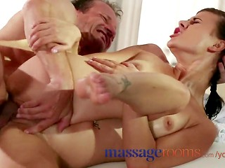Cute girl Billie gets fucked in massage room
