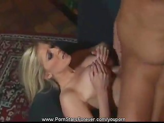 Crazy blonde girlfriend with delicious boobs gets deeply penetrated by her unstoppable lover
