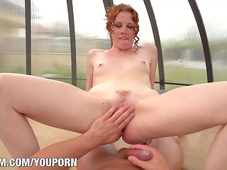 POV sex with slutty redhead gal