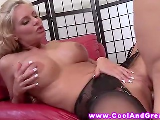 Lucky guy came on the big boobs of stunning pornstar named Phoenix Marie