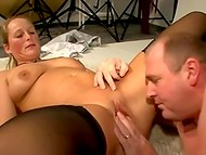 Thick man with small dick fucked a naughty German lady like she is a real hooker