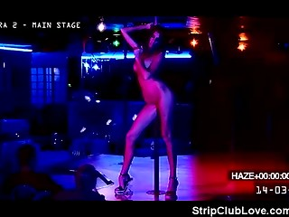 Charming dark-haired bitch earns money with her vagina in the night club private room