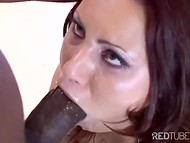 Chocolate-skinned dude penetrated the most cherished holes of this perfect redhead