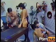 Asian whore with hairy cunt appears in the wonderful Danish vintage porn with crazy sexual games  10