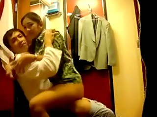 Horny young couple having lustful sex in every place of their new apartment