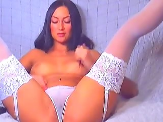 Webcam delicious babe touches her pussy with hand in her panties