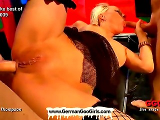 Two really nasty sluts get massive bukkake