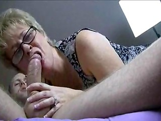 Astonishing stepmother scolded her stepson and presented him an awesome blowjob