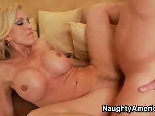 Gorgeous Amber Lynnn takes her stepson's best friend's cock in her juicy vagina