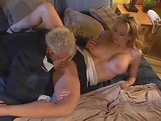 Incredible lady with nice pair of big tits enjoys a passionate sex with her blonde lover