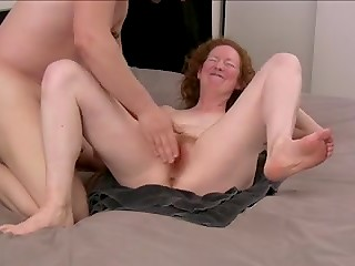 Red-haired slut loves BDSM games with her sex partner when her husband is on a business trip