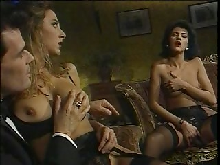 Old-fashioned porno film shows magnificent ladies who get radiantly humiliated by their lovers
