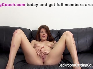 Chunky girl with nice tattooes came for deep anal casting