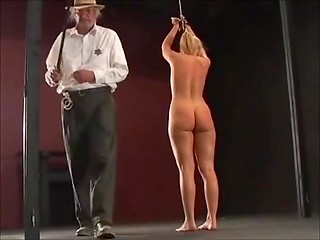 Blonde slave getting cruel punishment