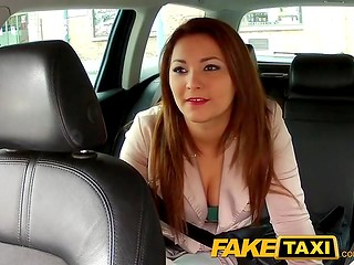 Fake Taxi action with delicious girl getting drivers cock in the mouth and pussy