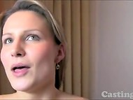 Charming cheat with natural tits swallowed cum of the fake agent after the spontaneous banging in the casting 10