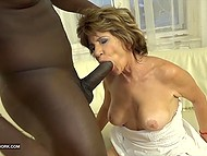 Mature woman wants sex and sturdy black cock drilling pussy and ass is exactly what she needs 6