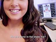 Amazing Alba Del Silva and stranger are alone in tattoo shop and take advantage of it to have sex 4