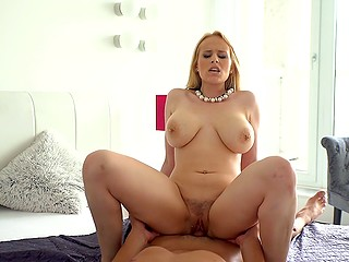 Blonde Angel Wicky with hefty tits is one of the pornstars whose scenes people watch with pleasure