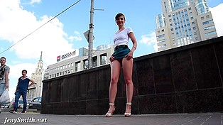 Flashing was the main reason why eccentric chick Jeny Smith was walking around Moscow streets