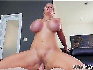 Working blonde with chubby ass knows how to make dick stronger before saddles it