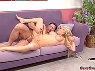 Nice hard cock penetrating hungry pussy is all what big-boobied girl needs to feel happy 6