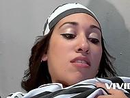 Slutty prisoner involved new Ebony convict into sensual lesbian encounter in the cell 8