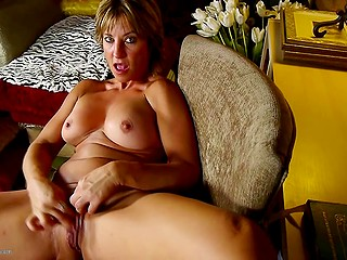 Diabolical MILF bangs herself as good as cock with one exception, orgasm comes sooner