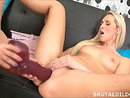 Chick and another lesbian female want humping and found quiet place to do it with giant sex toys 4