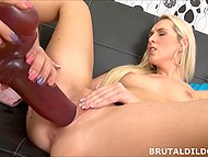 Chick and another lesbian female want humping and found quiet place to do it with giant sex toys 8