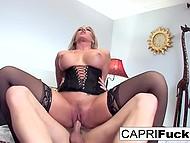 Smoking-hot Capri Cavanni puts on seductive lingerie and boyfriend fucks her in cowgirl position 10