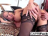 Smoking-hot Capri Cavanni puts on seductive lingerie and boyfriend fucks her in cowgirl position 4