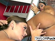 Lesbian Taylor Vixen manages to work together with tanned pornstar Lisa Ann with big breasts 10